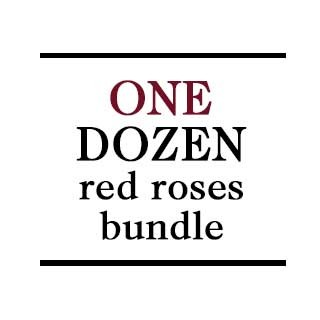 Bundle - 1 Dozen Red Roses