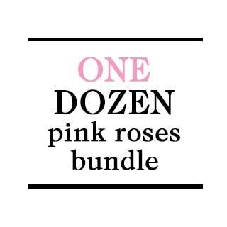 Bundle - 1 Dozen Pink Roses