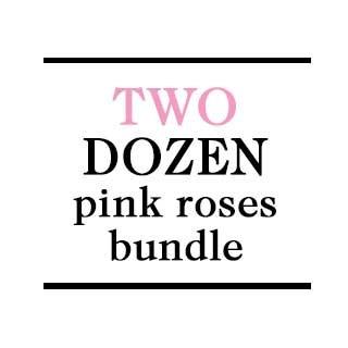 Bundle - 2 Dozen Pink Roses